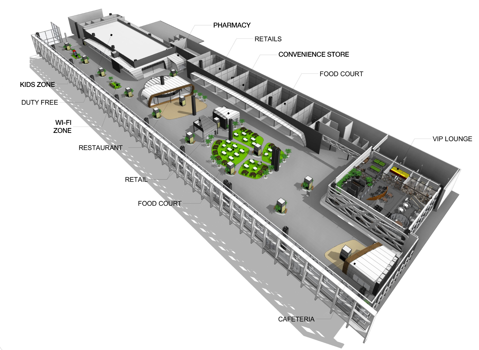 Floor Plan Of A Shopping Mall Commercial Area San Jose Del Cabo Airport Sanzpont