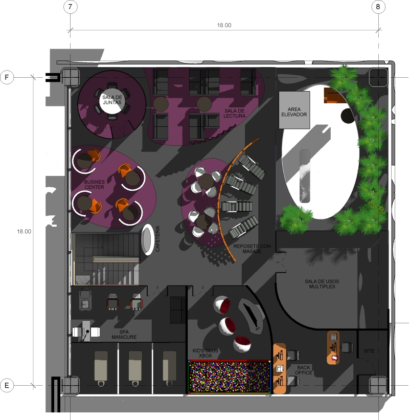 45 - sanzpont [arquitectura] - San Jose del Cabo Airport CA - VIP Lounge Floor Plan 02